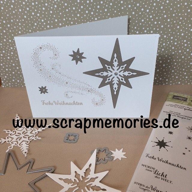 Weihnachtskarten Mit Sternen Basteln.Weihnachtskarten Scrapmemories Basteln In Ingolstadt Stampin Up