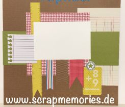Scrapbooking Layout Schulanfang