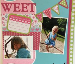 Scrapbooking Layout Sweet
