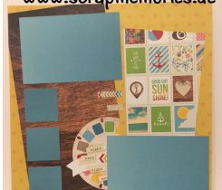 Scrapbooking Layout Sommer Neu