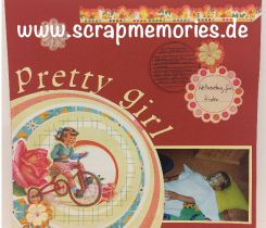 Scrapbooking Layout Sarah Pretty Girl Neu